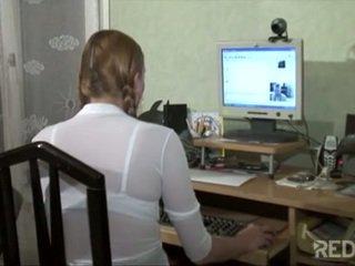 Blond francuskie nastolatka likes to z zarówno sides