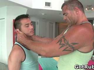 Lucky chap has asshole greased and made love hard