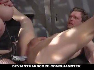 Devianthardcore - seksas vergas gets dominated iki blondinė.
