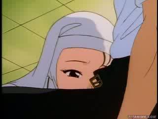 Slutty hentai non bends over en takes het van achter