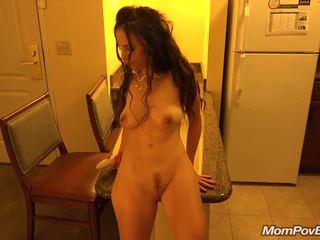 Big natural tits MILF behind the scenes