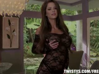 Emily addison strips out of her bodysuit