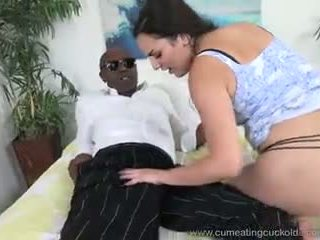 Paisley parker fucked by ireng jago and hubby has to ndilat up cum