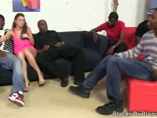 Brooklyn Chase fucks black cock