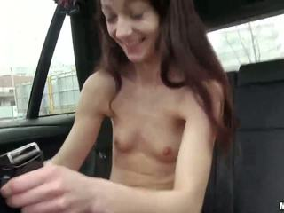 Very slim Aimee Ryan banged by stranger