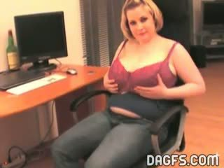 Neat girlfriend shows her monster tits