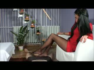 Goddess amy القدم الوظيفة - bootjob - العمل الأحذية