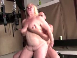 Chunky blonde mature gets fucked hard
