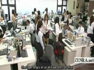 Subtitled enf japonské kancelária dámy safety drill vyzliekanie