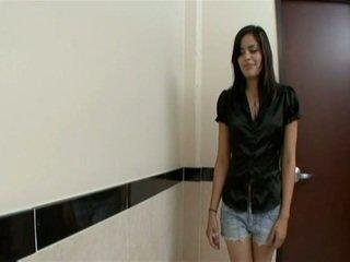 Latina babe fucked in bathroom in hot pov video