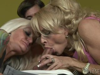 Tattooed Daughter Learns The Art Of Engulfing Wang From Mother