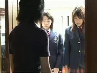 น่ารักน่าหยิก ญี่ปุ่น วัยรุ่น got fondled โดย เธอ โรงเรียน bullies วีดีโอ