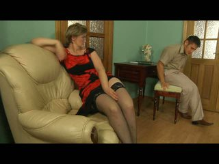 mature, moms and boys, stockings