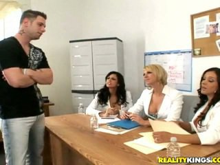 Francesca, Shy, Brianna and a male model