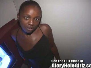 Freaky черни момиче latoya takes на stragers при на през дупка