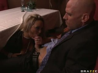 Carnal maly abbey brooks gets her mouth filled with a man meat sausage