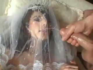 Heet bruid jackie ashe takes een grootste en rommelig facial cumsplash
