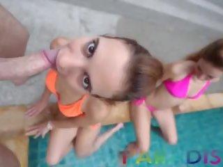 Paradise gfs - tweelingen zuigen lul samen op vakantie