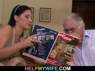 Hubby calls a guy na súložiť jeho manželka