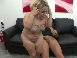 Nasty midget slut jumping on a big penis