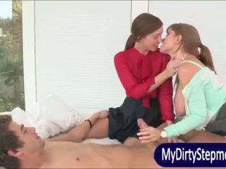 ボインの 成熟した ママ darla crane shares コック とともに maddy oreilly