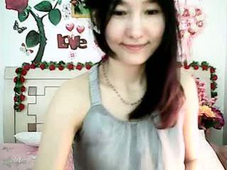 Ljubko korejsko kamera punca tempting s debel prsi