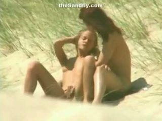 Wet Pussy Masturbation On Nudist Beach