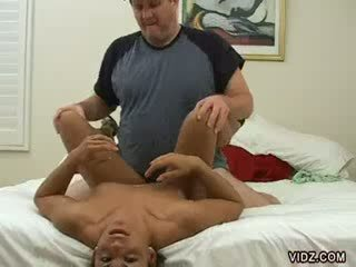 Stunning Latin chick gets filthy with fat man