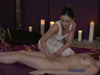Massage rooms stupéfiant lesbienne modèles avoir intense sensuel orgasms