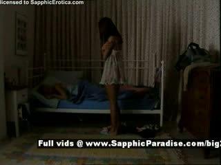 Delores und jo aus sapphic eroticalesbian mädchen teasing