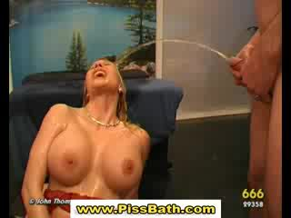 Fetish watersports slut cock sucking golden shower