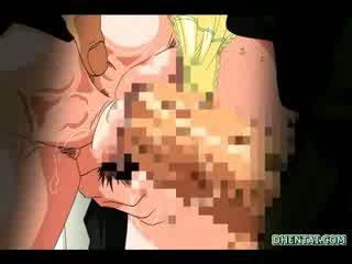 Manga Coed hot fucked and internal jizz shot in the train