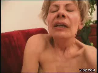 Two blondie grannies all fired up for Female Ejaculation