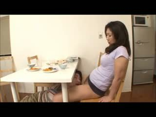 Japanese Step Mom With No Panty
