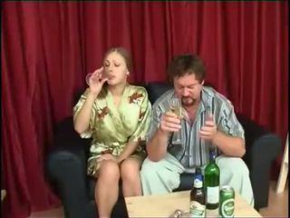drikking, datter, fucks
