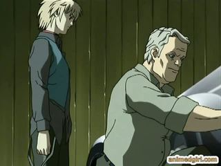 Geketend hentai gets bips injectie en sprayed stront