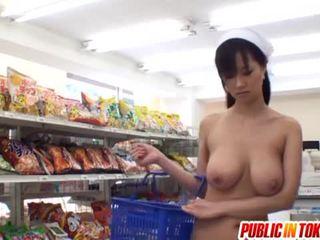 Busty babe sayuki kanno fucked in super market