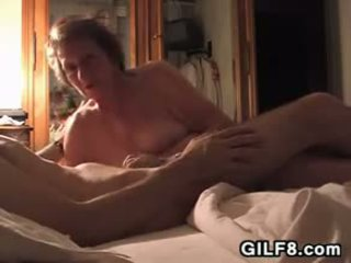 Fat Grandma Sucking And Riding On A Cock