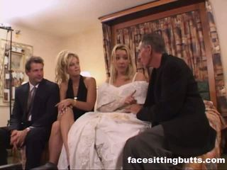 Bride-to-be got 一 討厭 面部, 免費 facesitting butts 色情 視頻