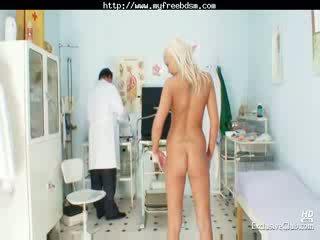 Blonde Klara Getting Pussy Gyno Examined By Old Doctor bdsm bondage slave femdom domination