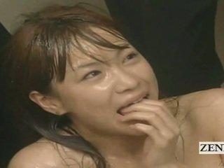 Subtitled enf cmnf τρελό ιαπωνικό σπέρμα spattered δάσκαλος