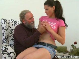 briunetė, paauglių seksas, jaunas