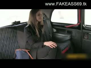 Besar titted si rambut perang fucked keras oleh fake taxi driver
