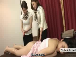 Subtitled jepang lesbian bokongé oil pijet training