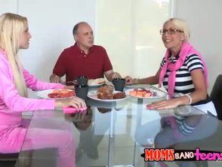 Darling and older are sucking dudes dick lustily