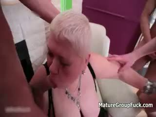 group sex, granny, anal