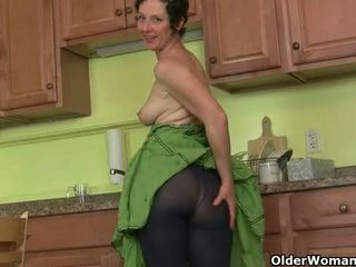 old, gilf, tights