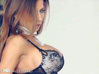 brunette, cunt, big boobs