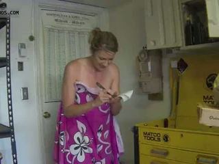 Ooops towel slip pizza delivery