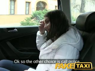 Faketaxi chutné ruské turista s a pekný tesné pička